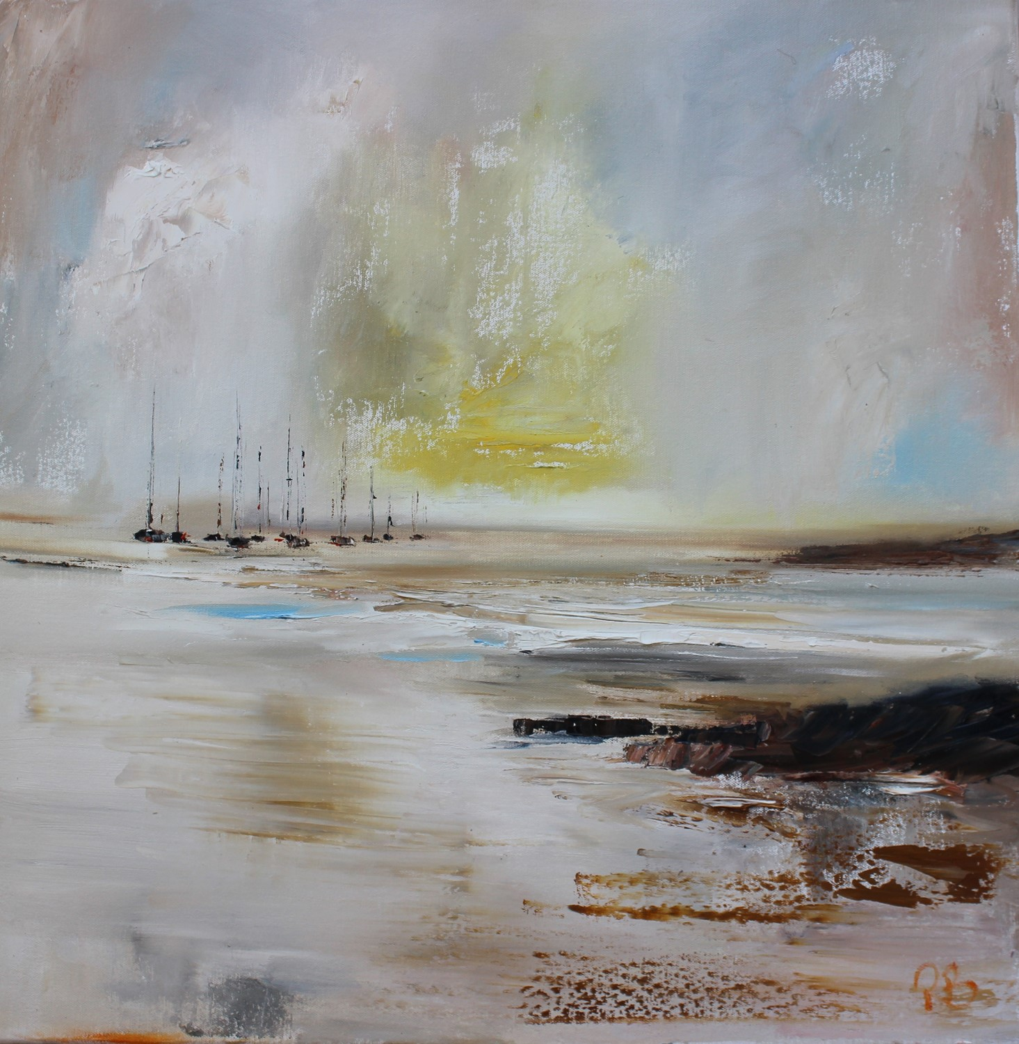 'Sailing on Silver Seas ' by artist Rosanne Barr