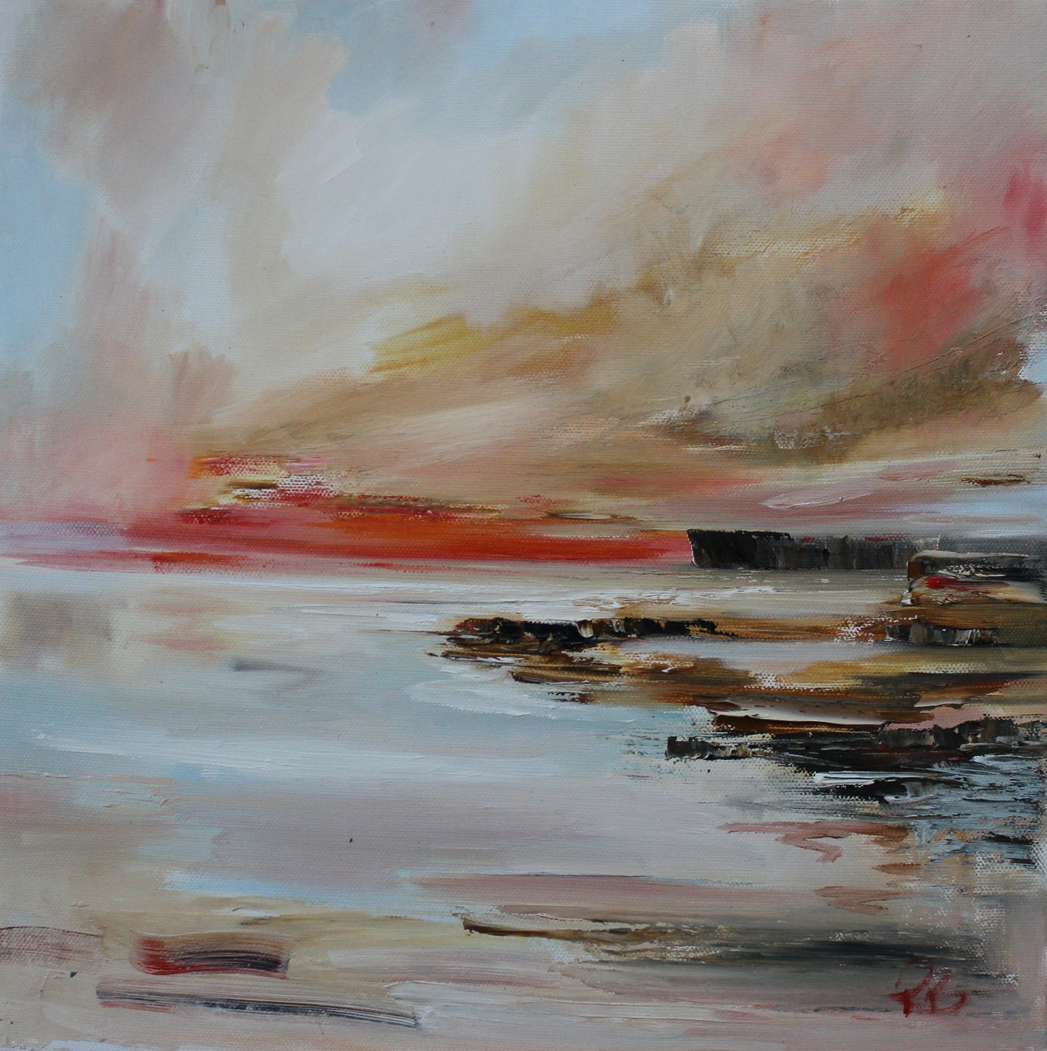 'When The Sunsets' by artist Rosanne Barr