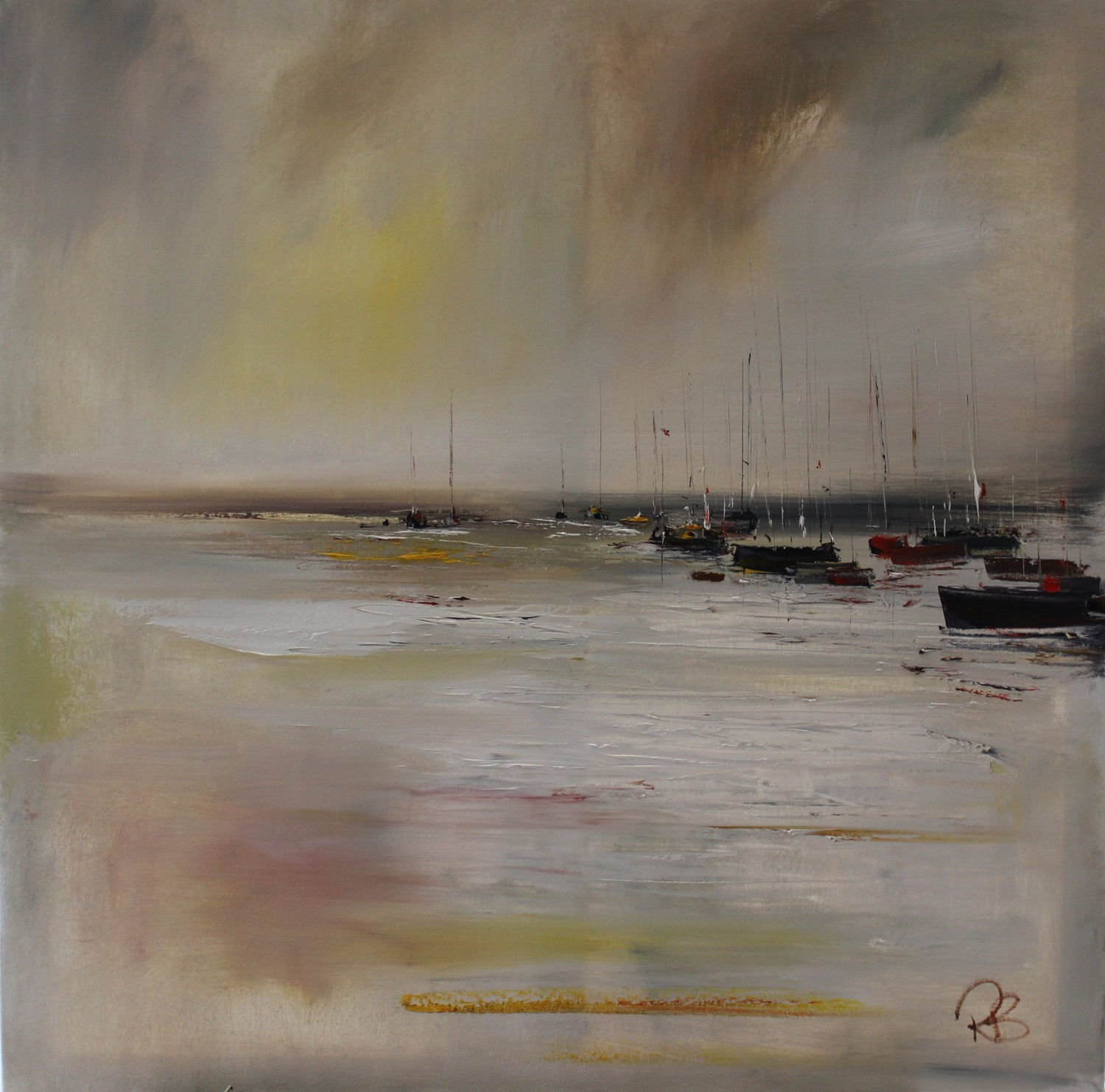 'Mist Hanging over the Harbour' by artist Rosanne Barr