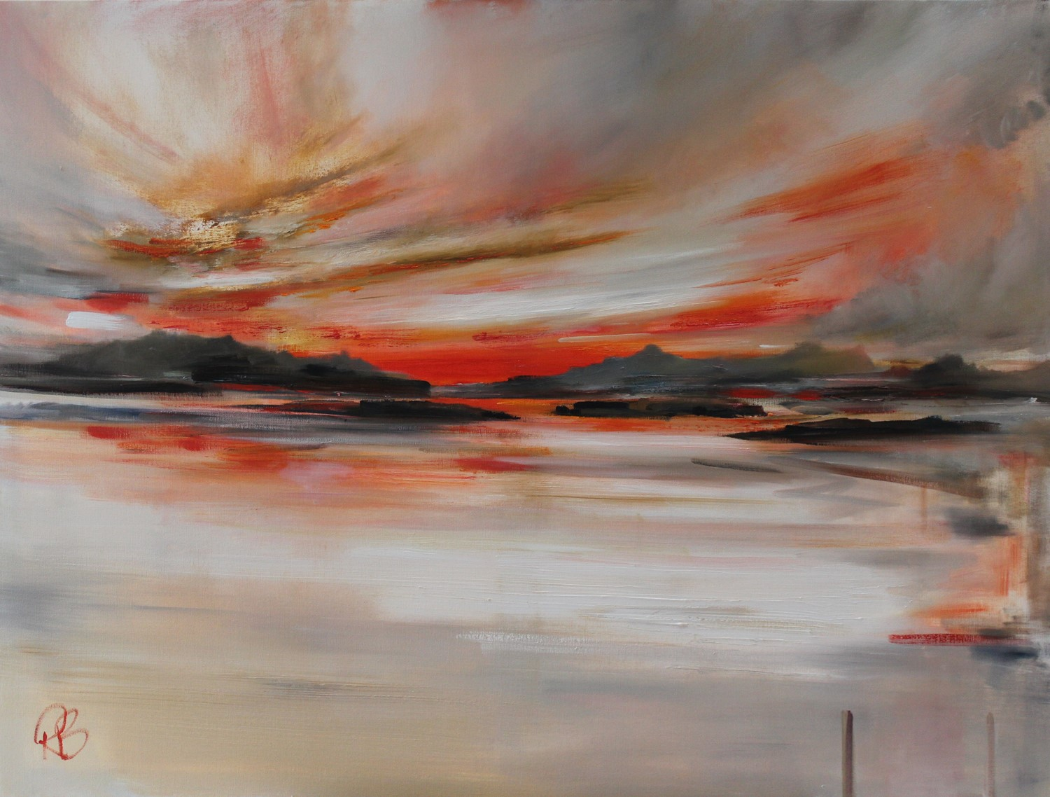 'Sunset Sky over the Isles' by artist Rosanne Barr