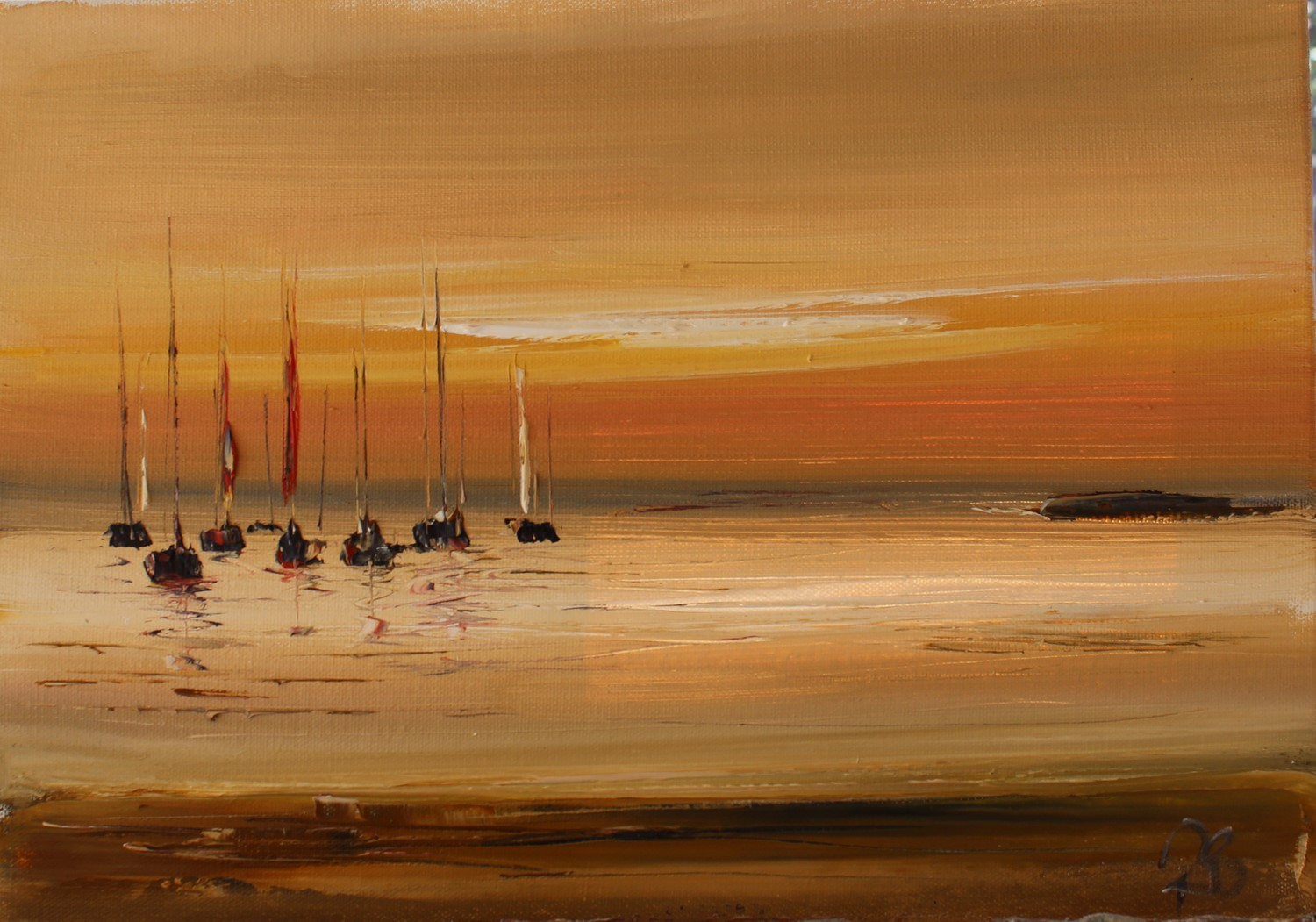 'Yachts and summer nights' by artist Rosanne Barr