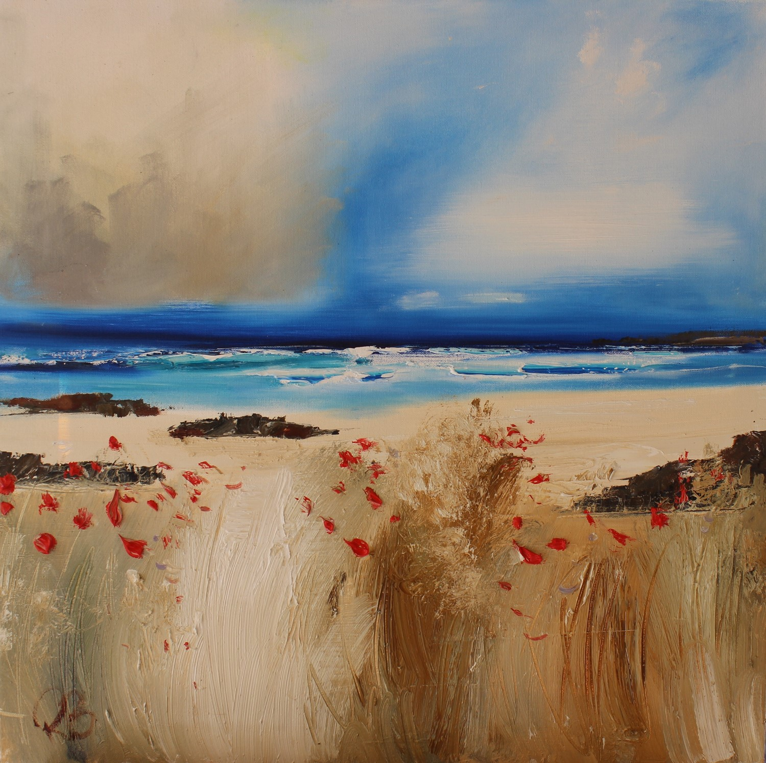 'Scattered Poppies by the Beach' by artist Rosanne Barr