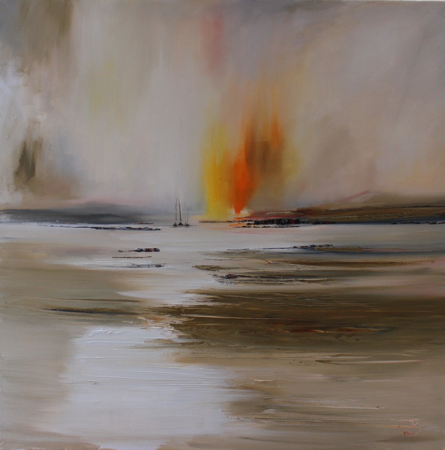 'Flash of Light Amidst the Mist ' by artist Rosanne Barr