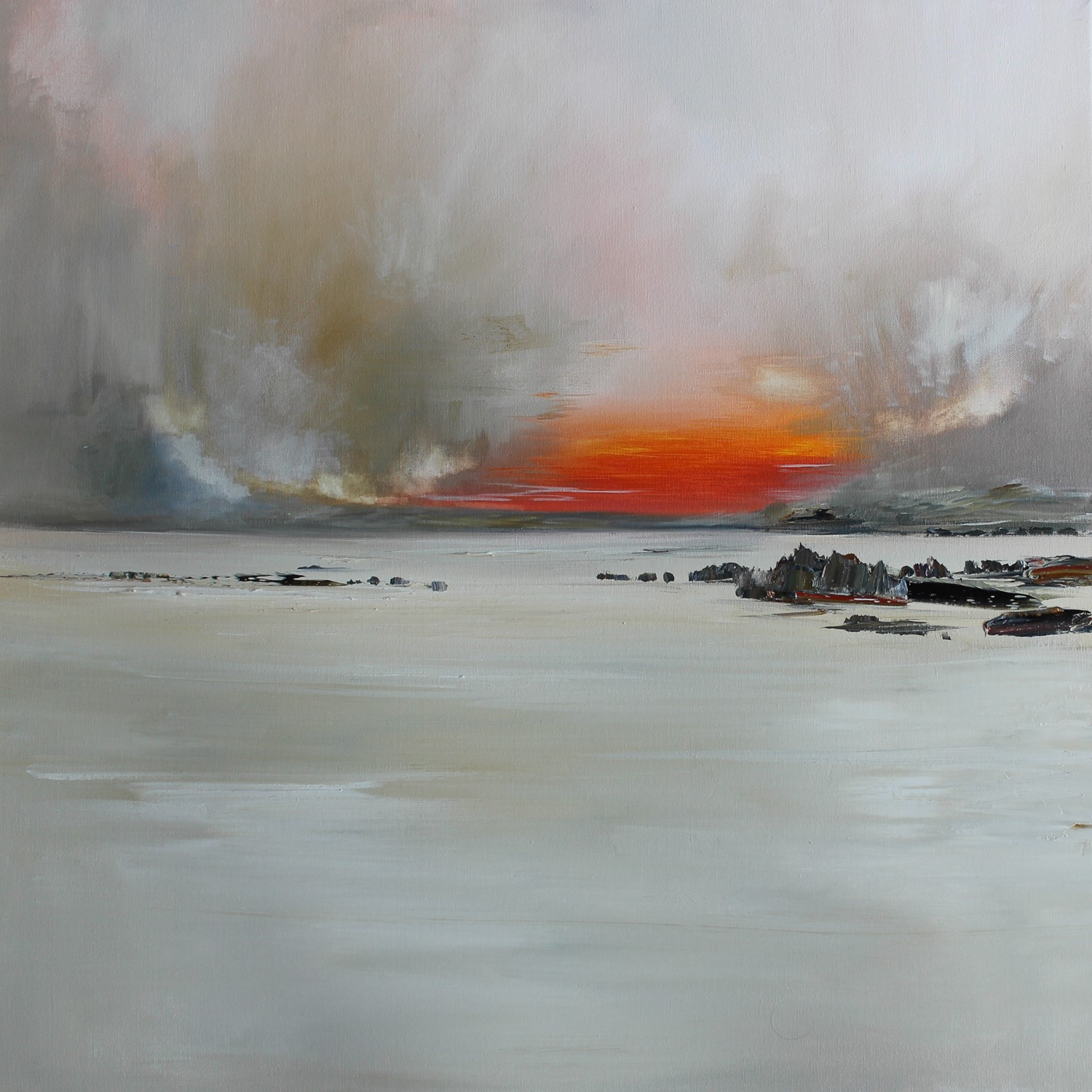 'A Lingering Haar over the sunset' by artist Rosanne Barr