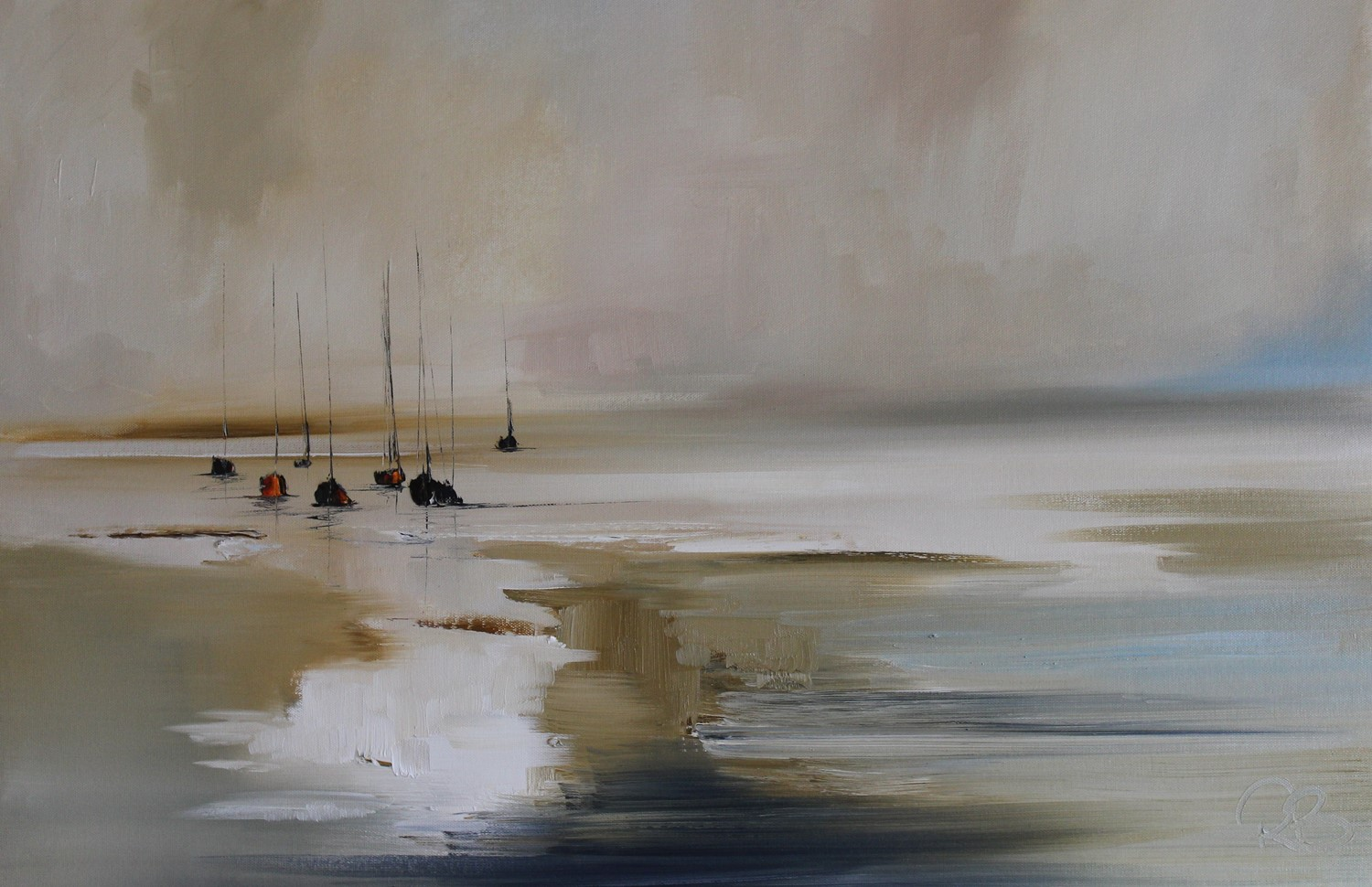 'Pools gather as the Tide slips out' by artist Rosanne Barr