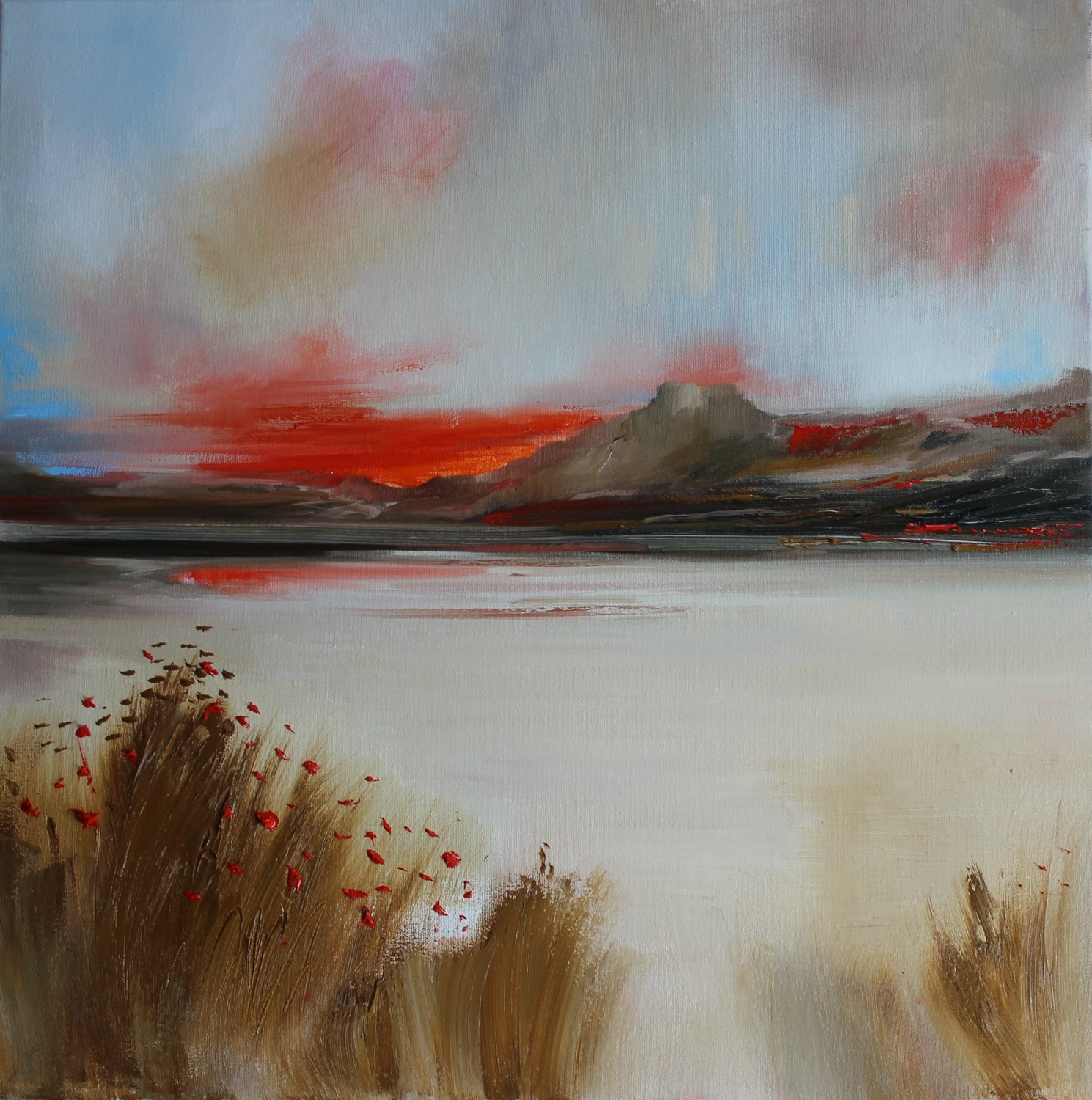 'Seaside Poppies ' by artist Rosanne Barr