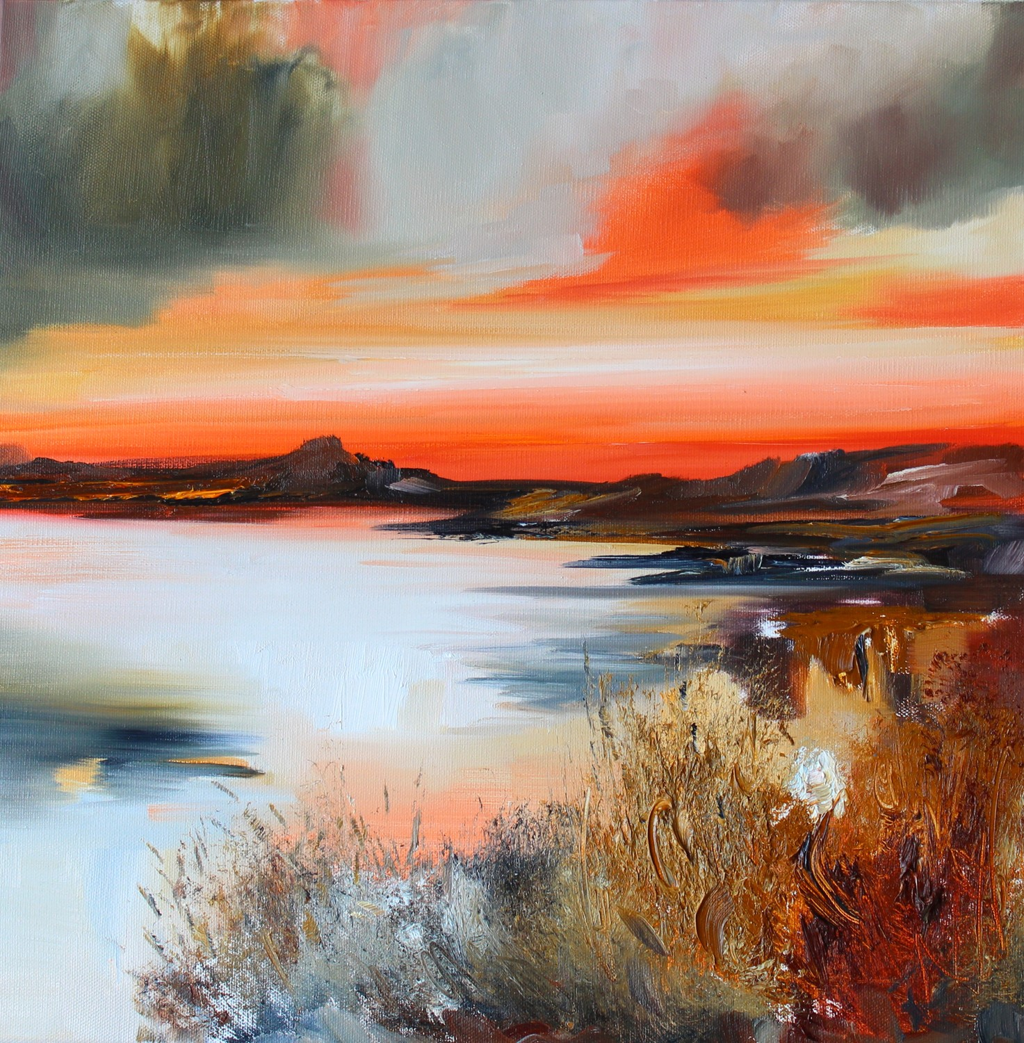 'A Dramatic Sunset' by artist Rosanne Barr