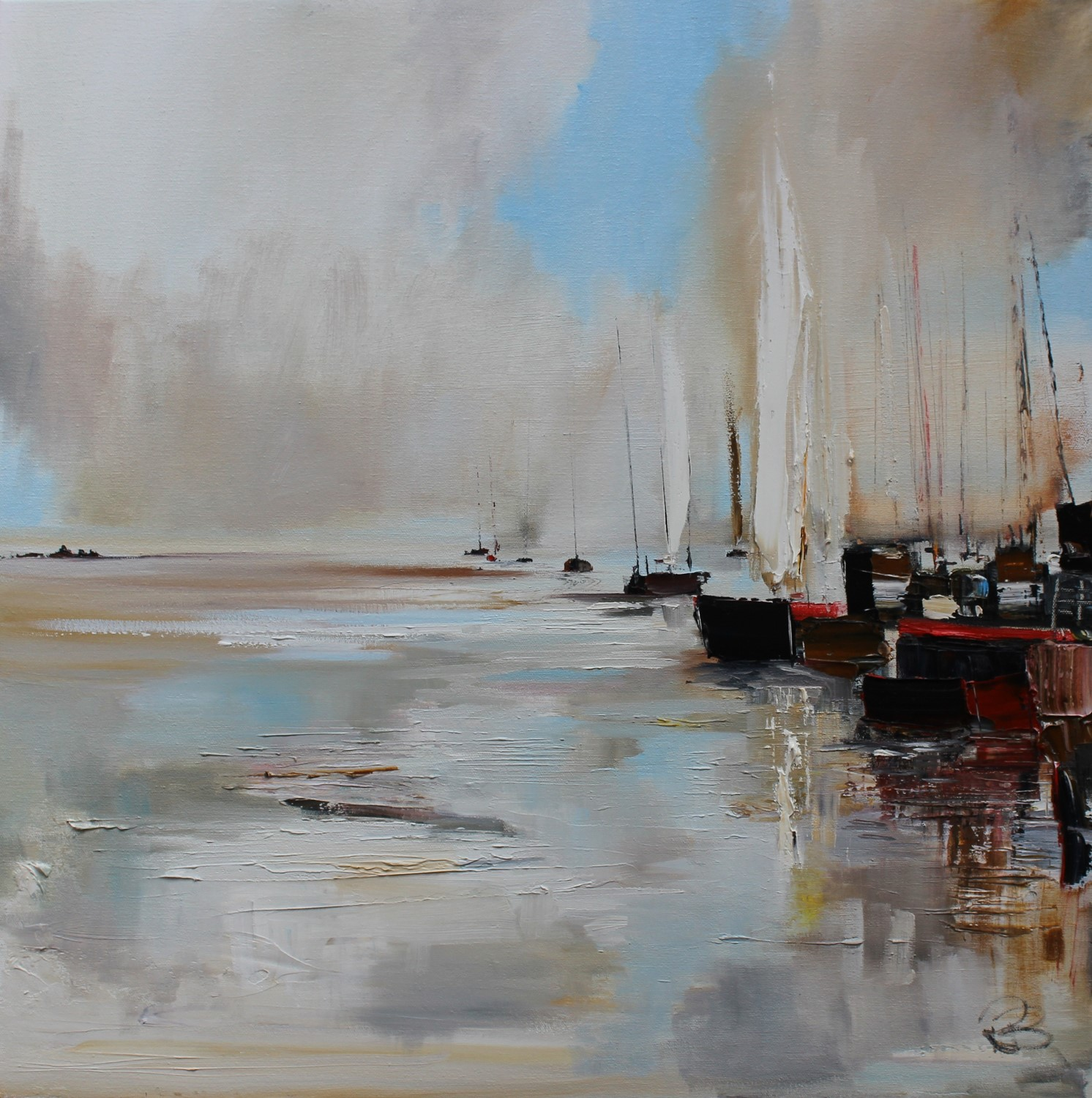 'Gathered at the Quay' by artist Rosanne Barr