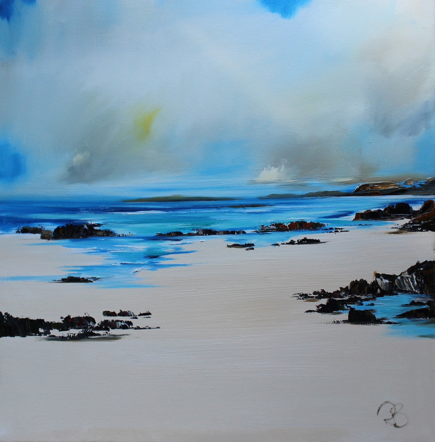 'Rock Pools and Sunshine' by artist Rosanne Barr
