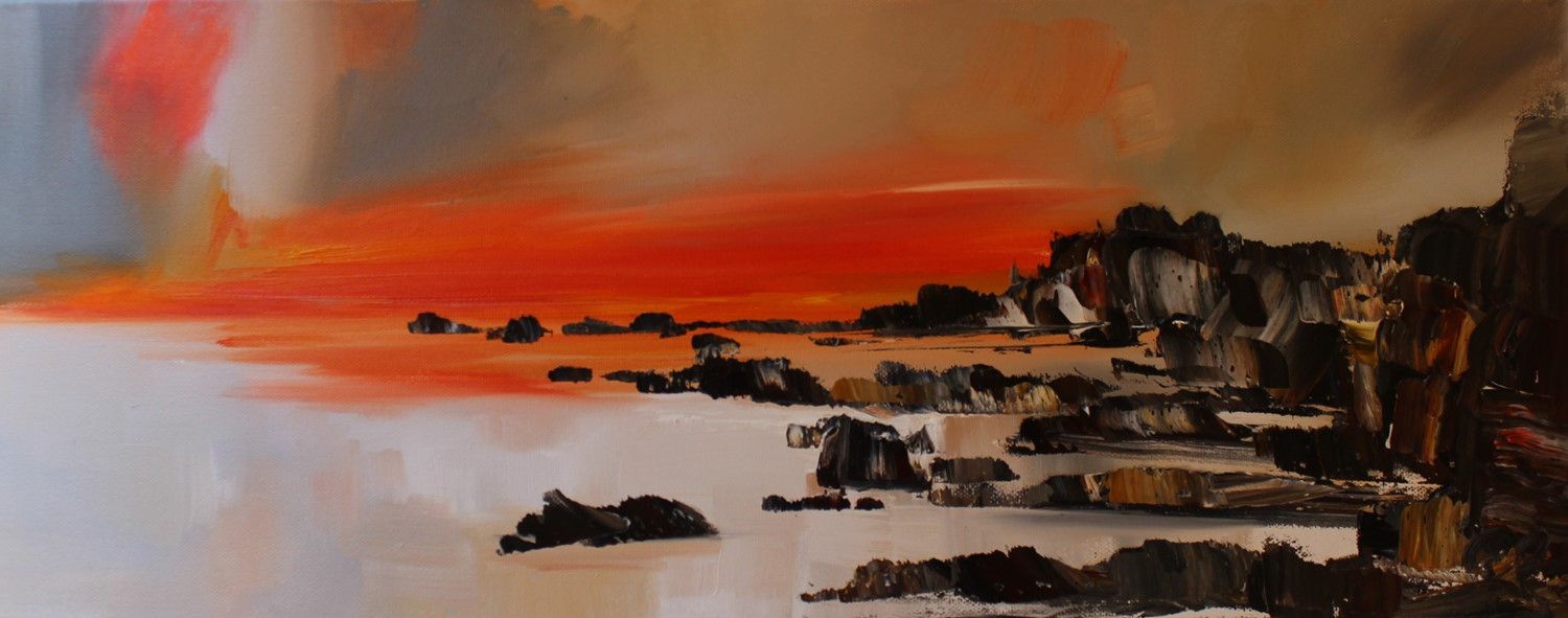 'Cliffs and a Vivid Sunset' by artist Rosanne Barr