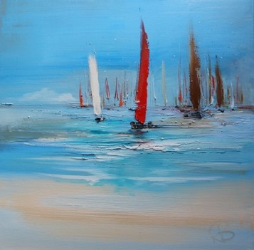 'Yachts on a Summer Day' by artist Rosanne Barr