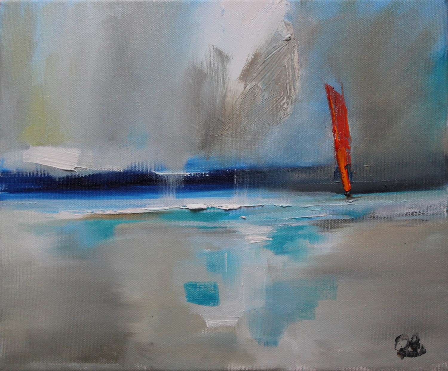 'Single Sail in the Storm' by artist Rosanne Barr