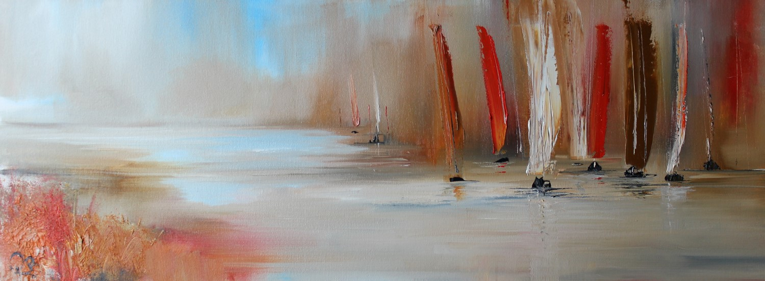 'A Rally of Sails' by artist Rosanne Barr