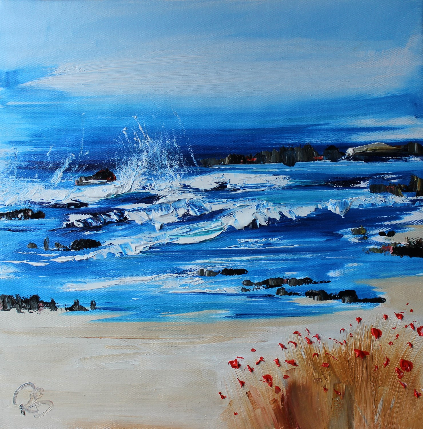 'Surf and Sea spray' by artist Rosanne Barr