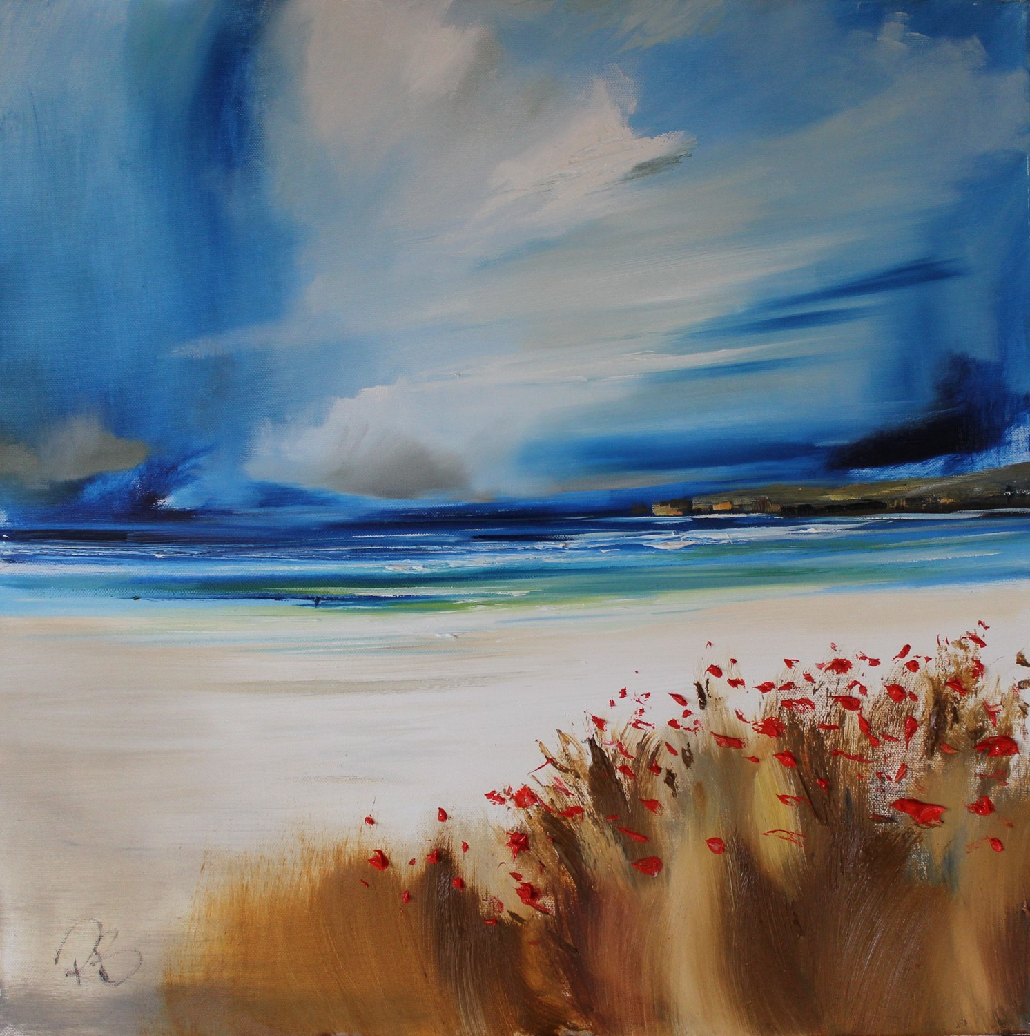 'Fresh Weather and Poppies by the Sea ' by artist Rosanne Barr
