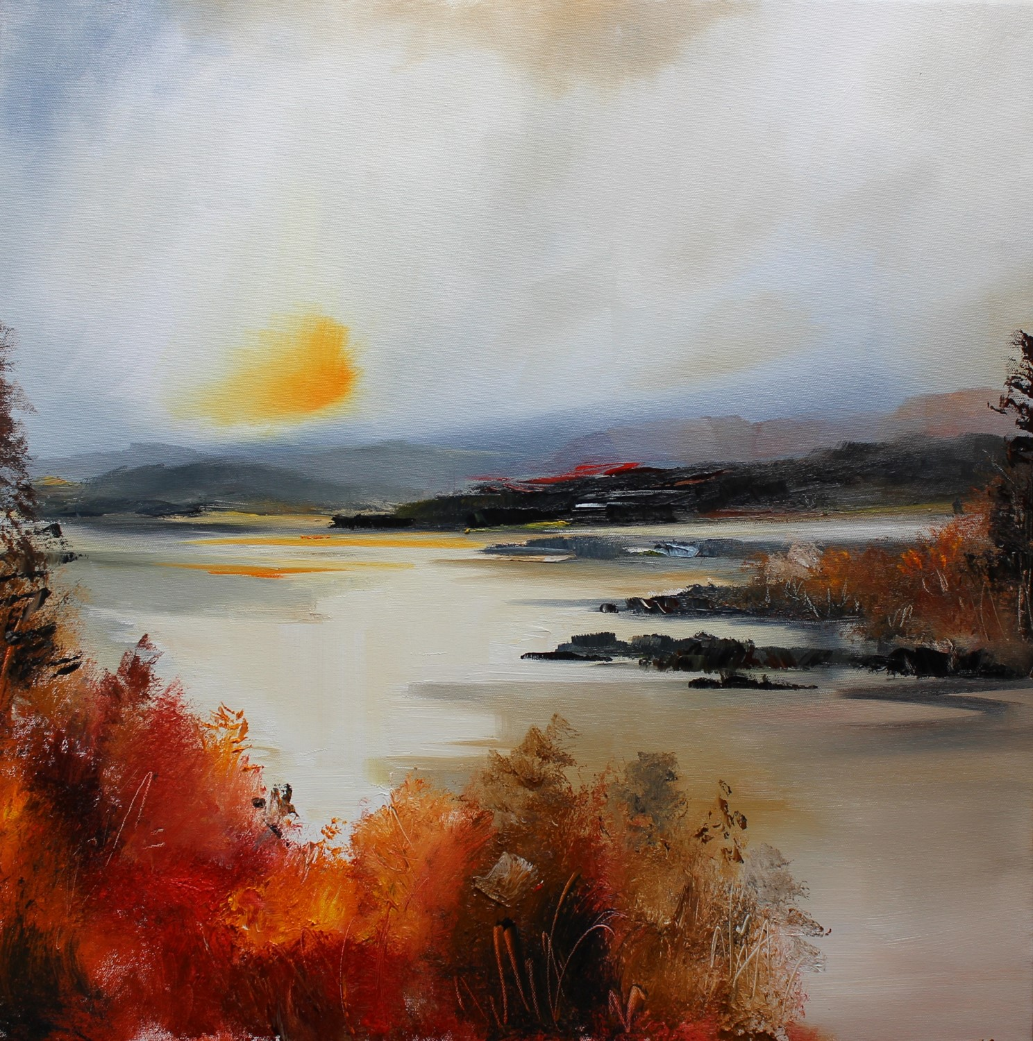 'Autumn By the River' by artist Rosanne Barr