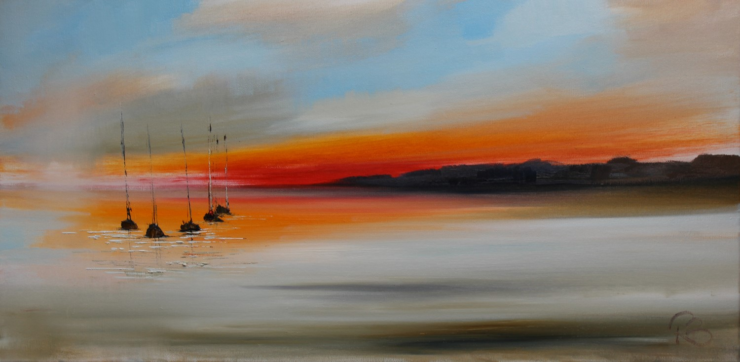 'Just as the Sunsets' by artist Rosanne Barr