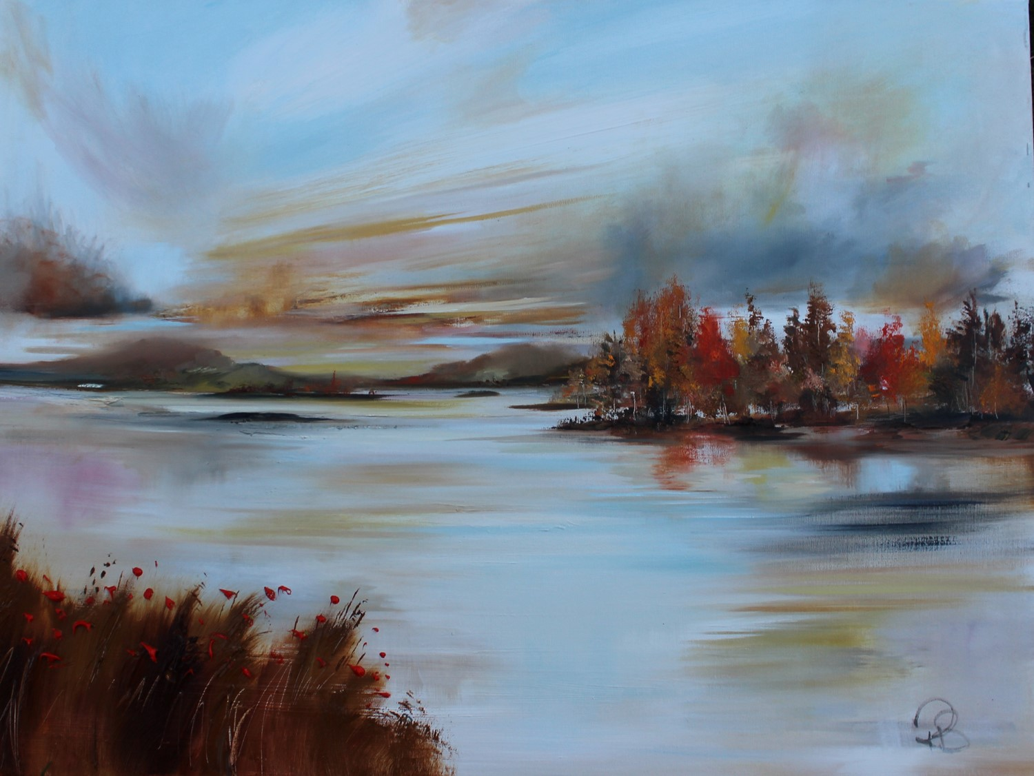 'By the side of the Loch in Autumn ' by artist Rosanne Barr
