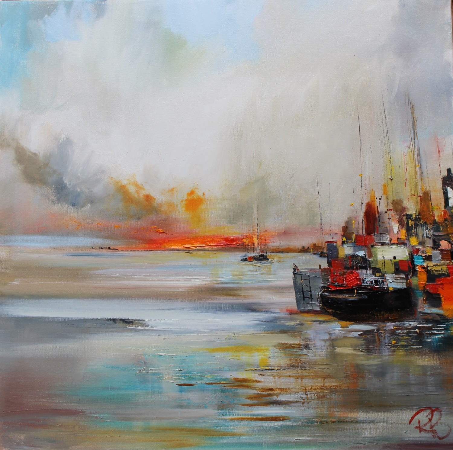 'Fishing Harbour' by artist Rosanne Barr
