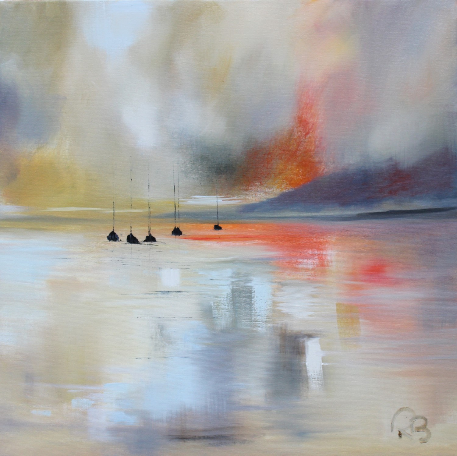 'A Misty Evening' by artist Rosanne Barr