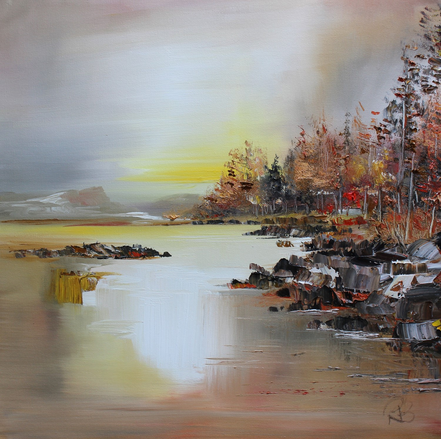 'Dawn Light on the Loch ' by artist Rosanne Barr