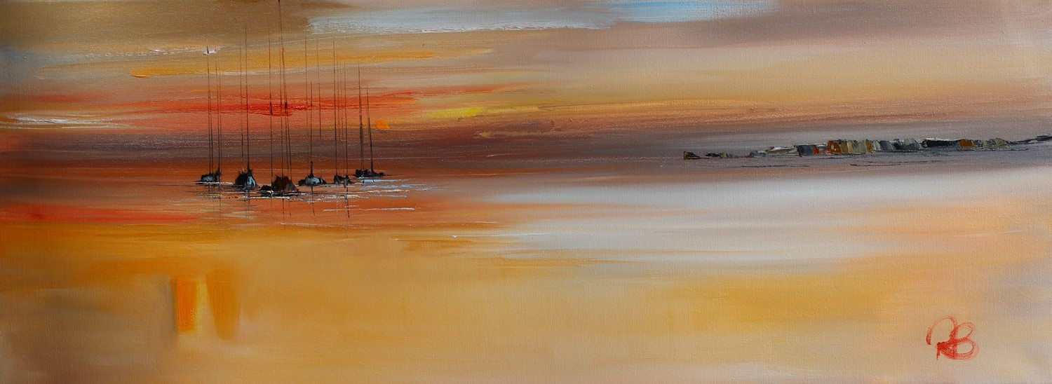 'Sundown over Still Waters' by artist Rosanne Barr