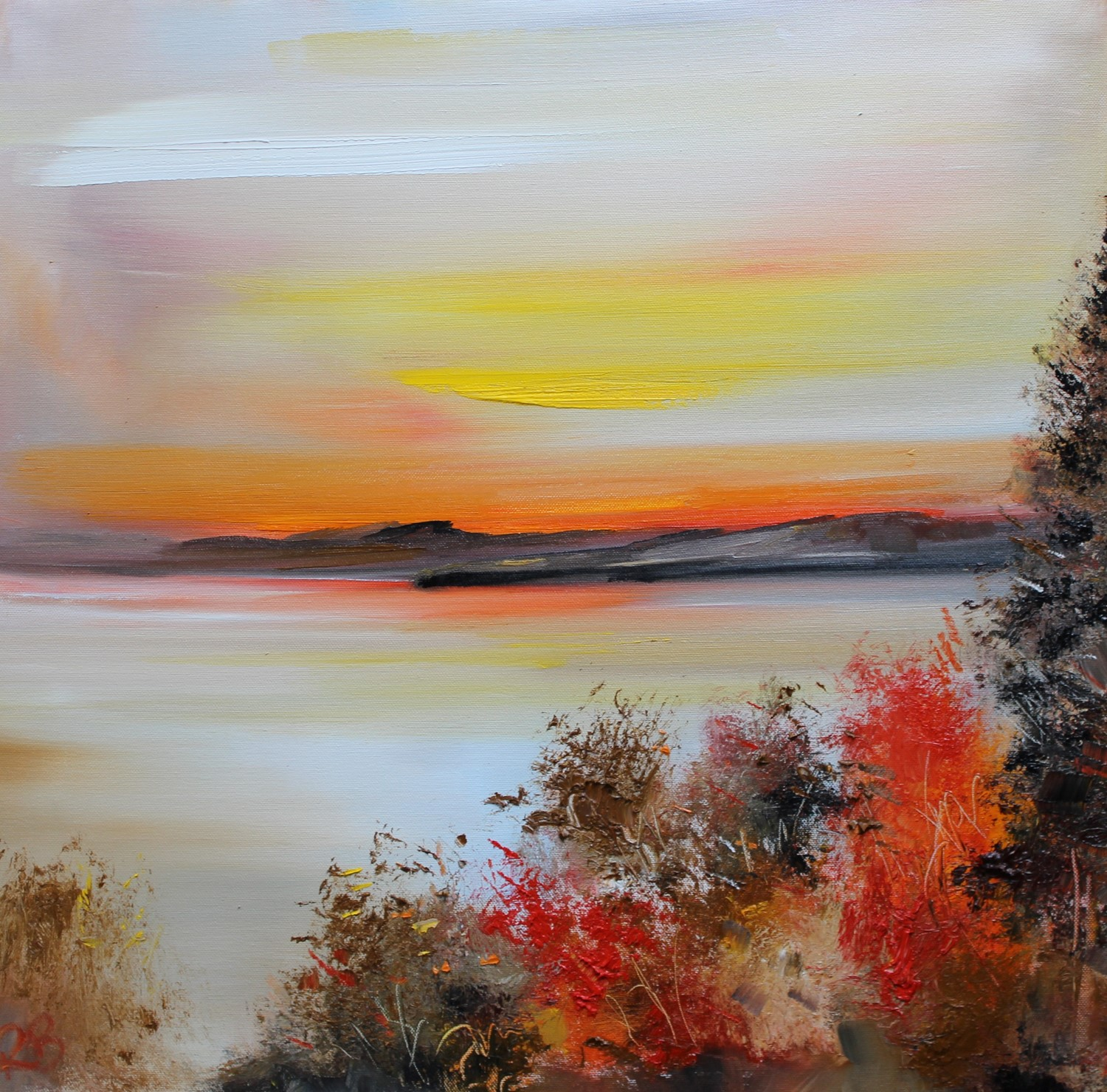 'All Still at Sunset' by artist Rosanne Barr