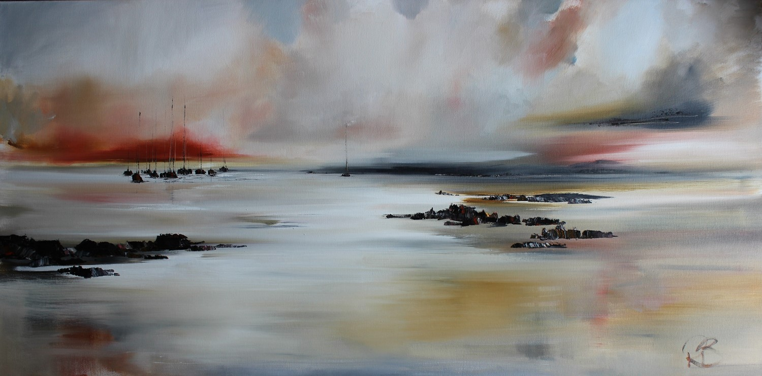 'Across the Bay the Boats Await' by artist Rosanne Barr