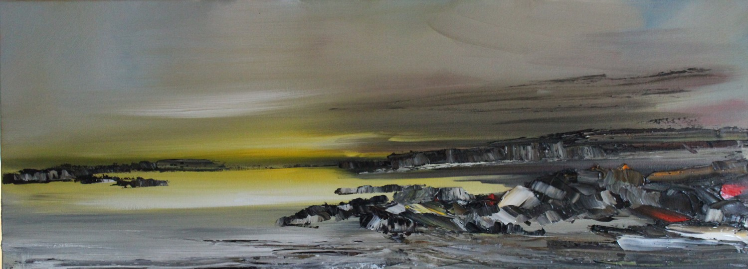 'Rocky Shore Line at Dawn' by artist Rosanne Barr
