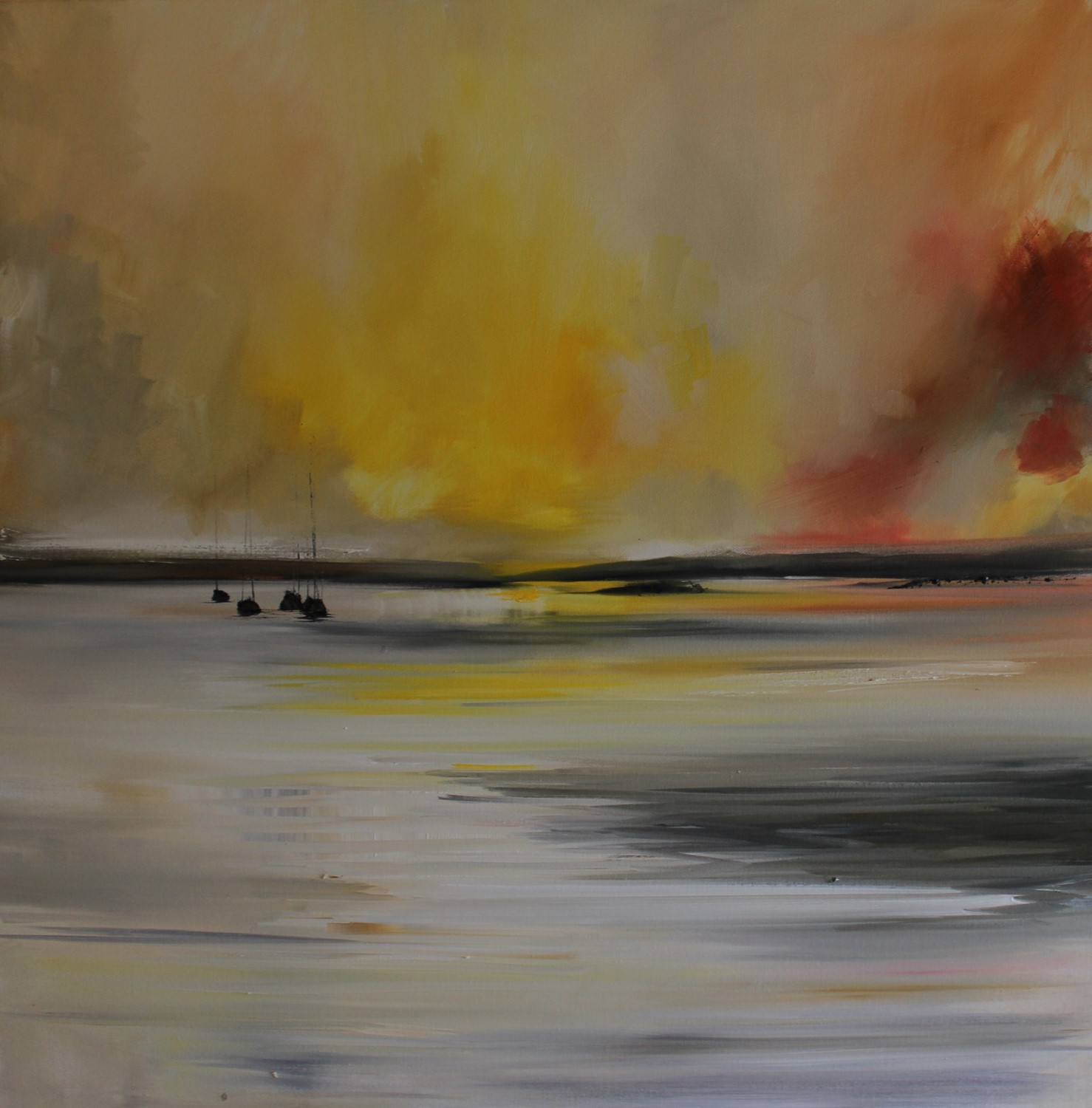 'Following the Sunset' by artist Rosanne Barr