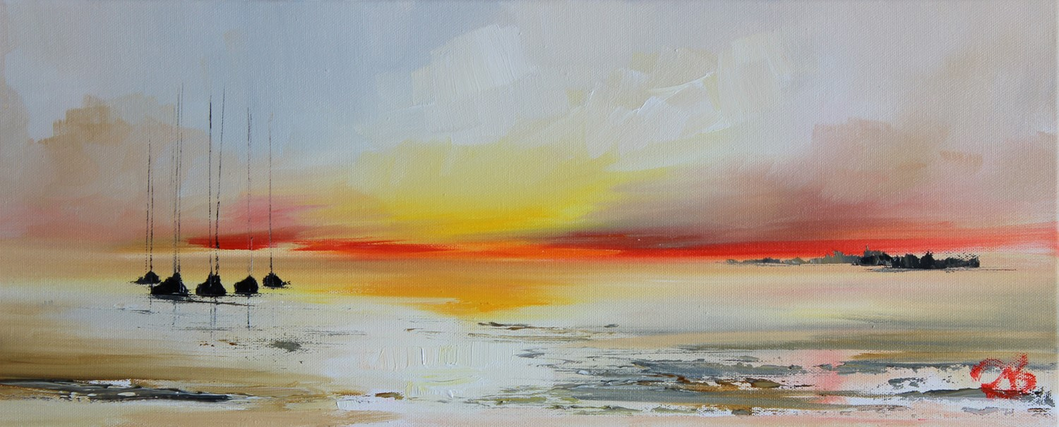 'Five resting as the Sunsets' by artist Rosanne Barr