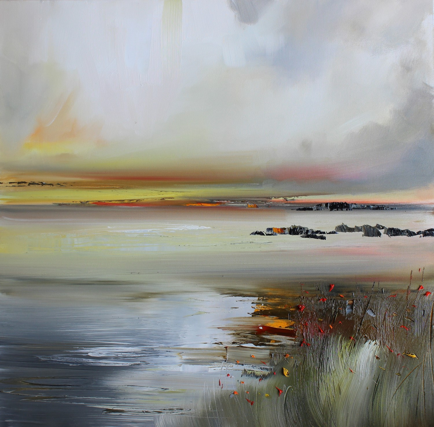 'A Dim Light below heavy Light' by artist Rosanne Barr