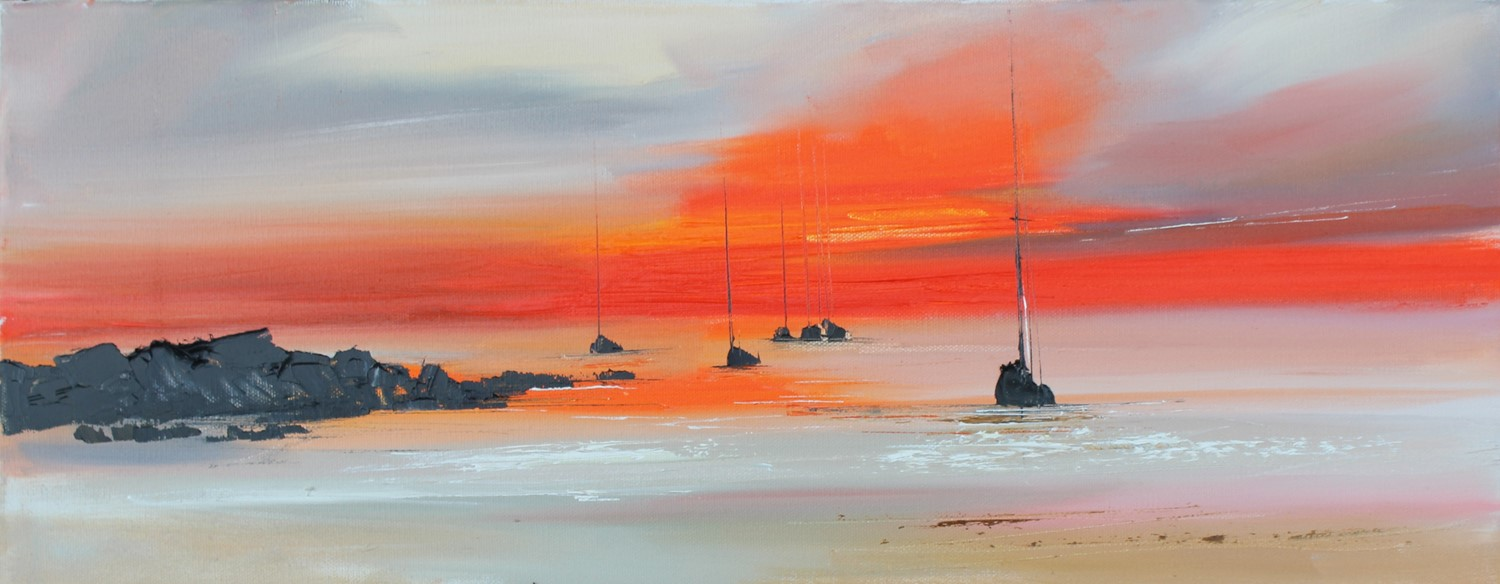 'All Settled at Sunset' by artist Rosanne Barr