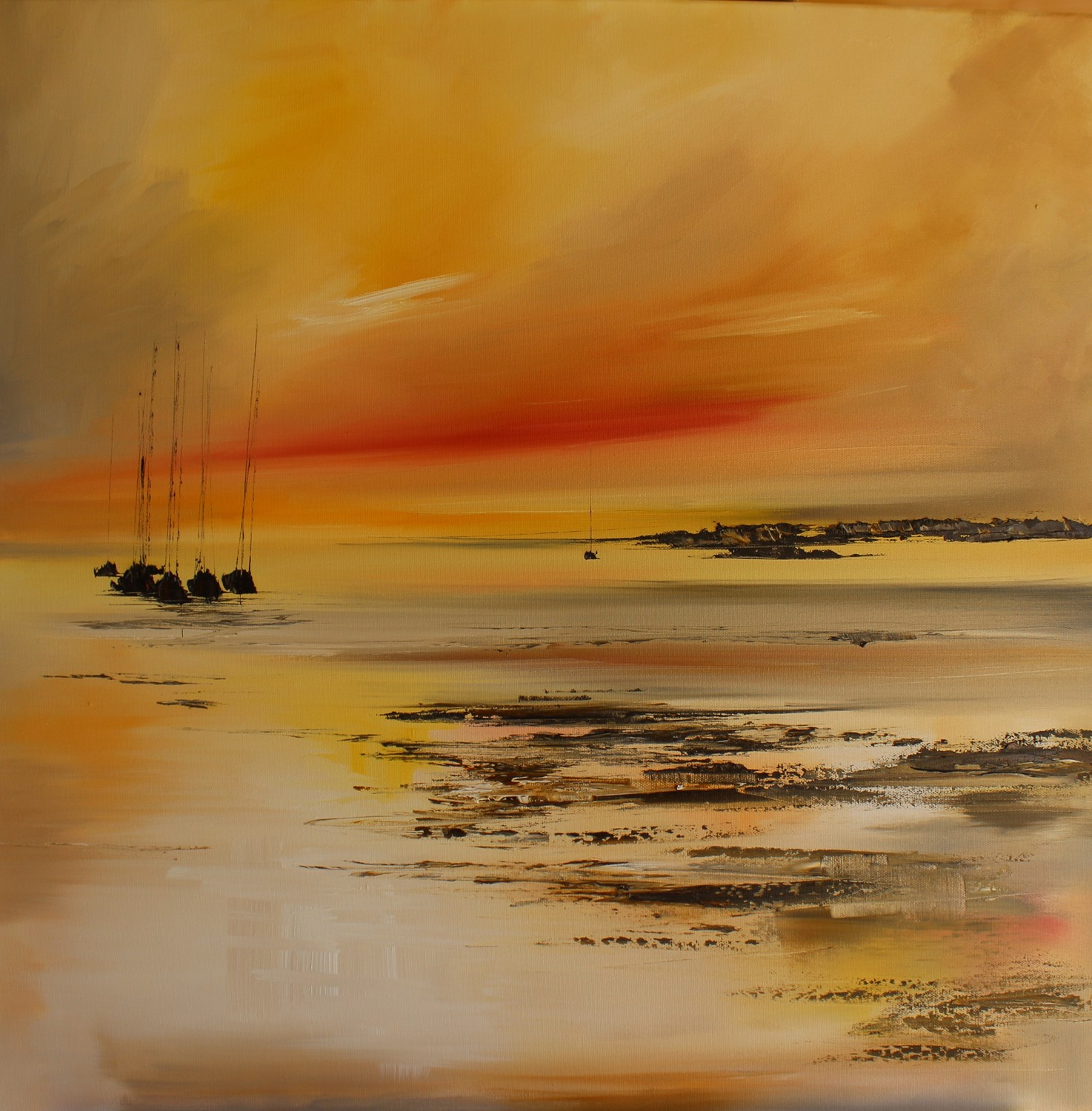 'As the Sunset Lights the Sky' by artist Rosanne Barr