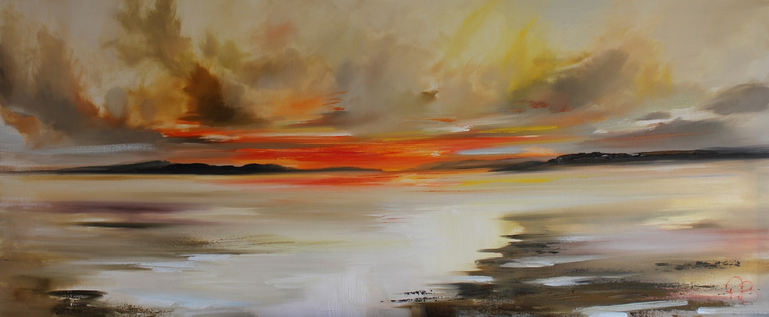 'Incoming Tide at Sunset' by artist Rosanne Barr