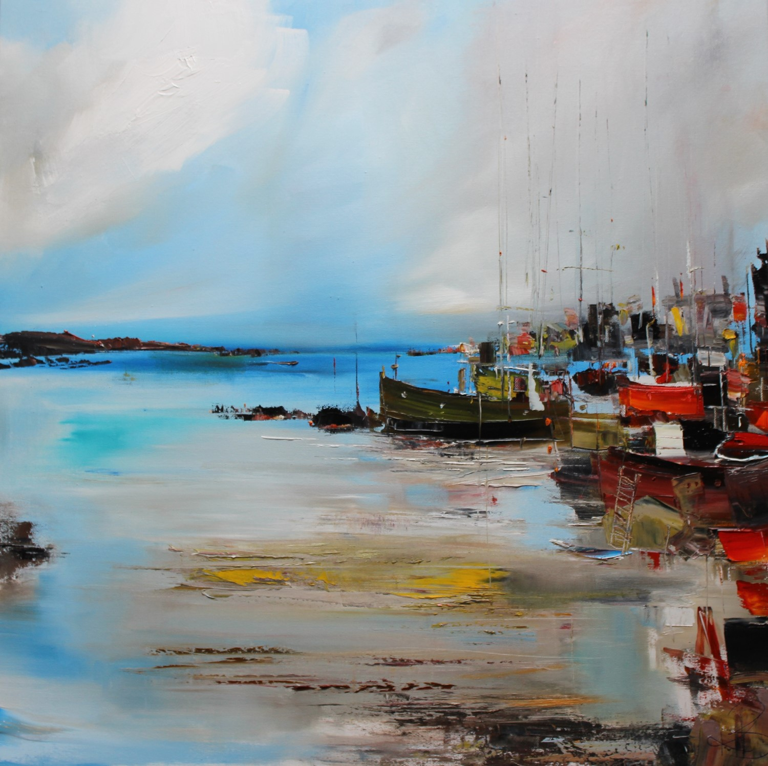 'At the Harbour for the Day' by artist Rosanne Barr