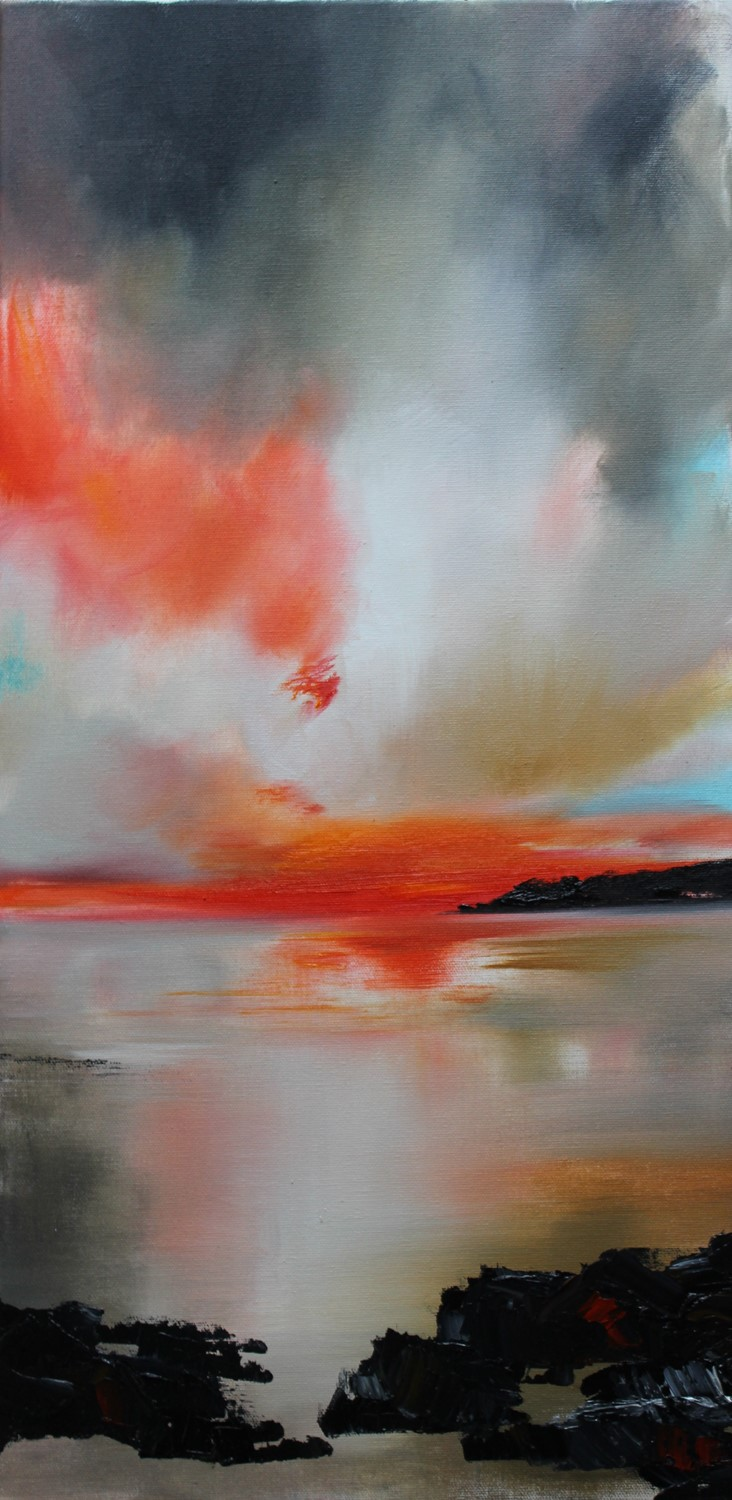 'As the Sun sinks' by artist Rosanne Barr