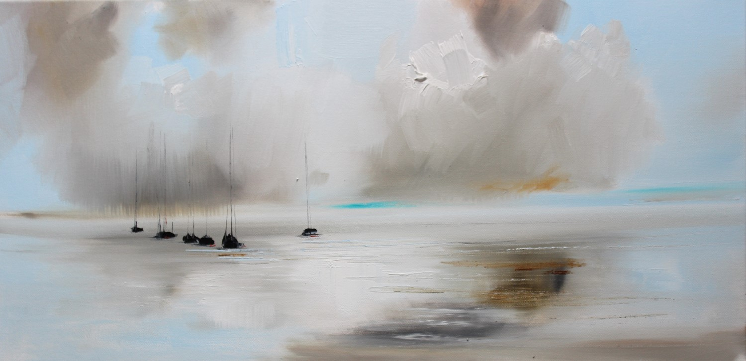 'Clouds Gathering across the sea' by artist Rosanne Barr