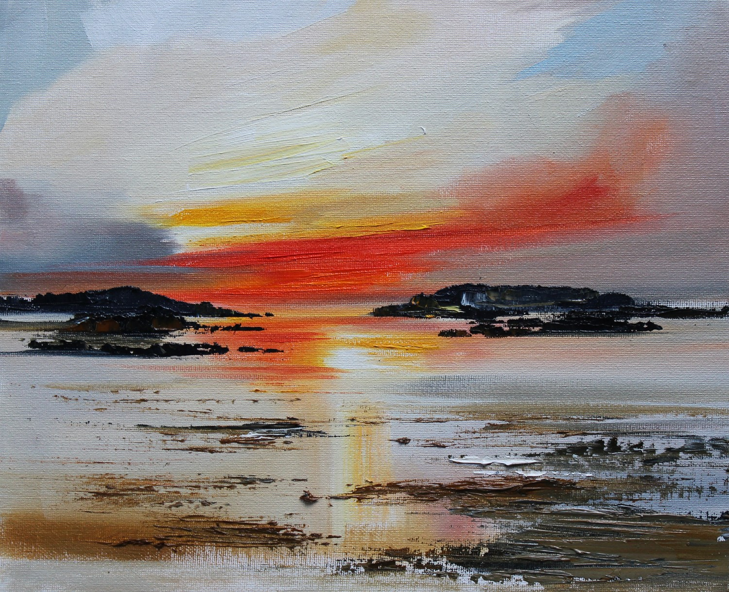'Sunset across the Water ' by artist Rosanne Barr