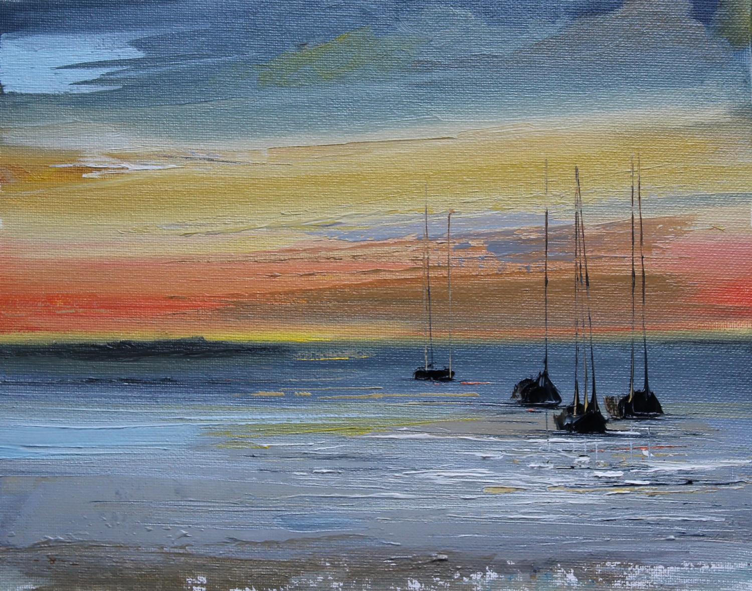 'As Night Falls ' by artist Rosanne Barr