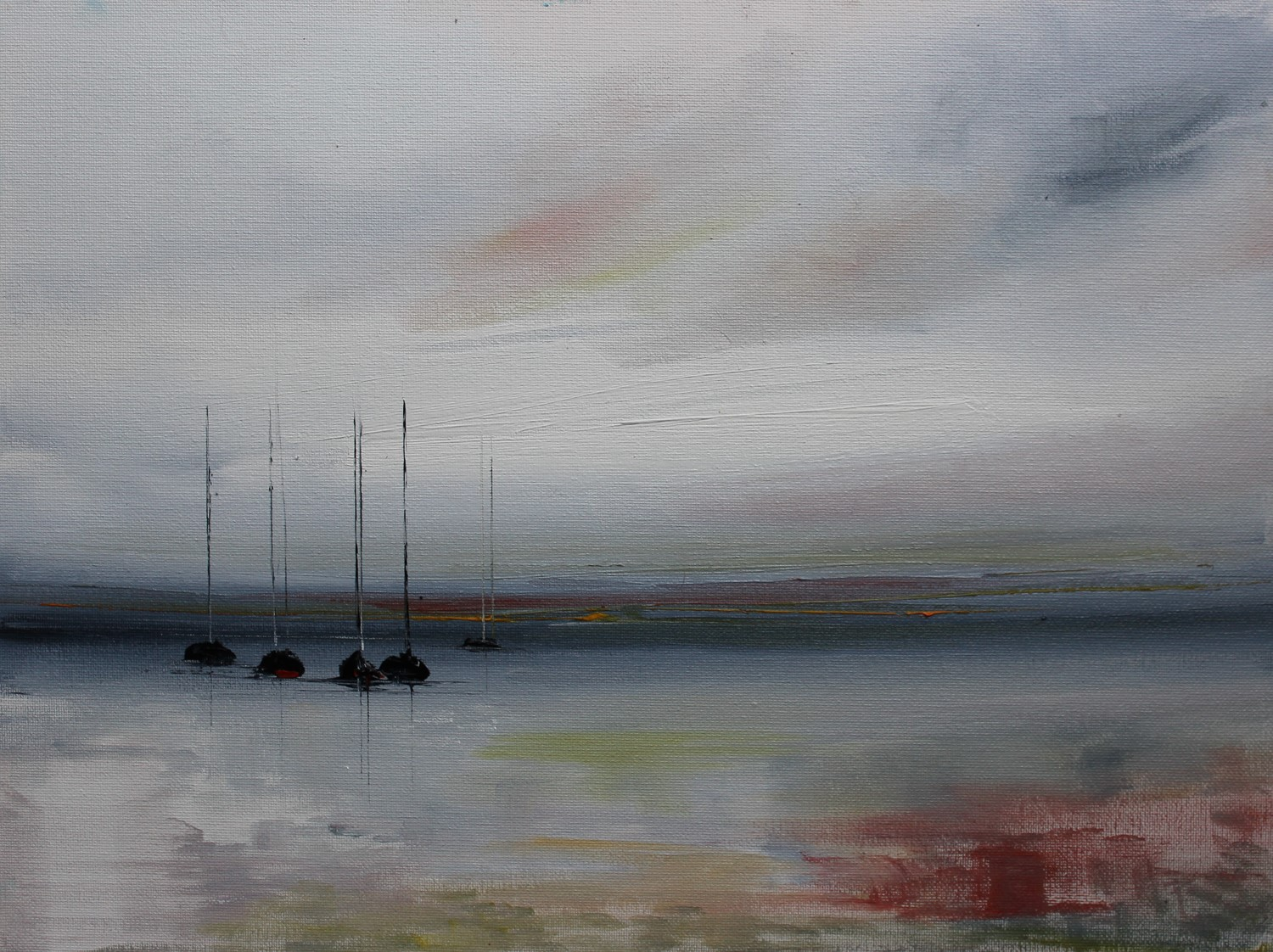 'Yachts in Winter Light' by artist Rosanne Barr
