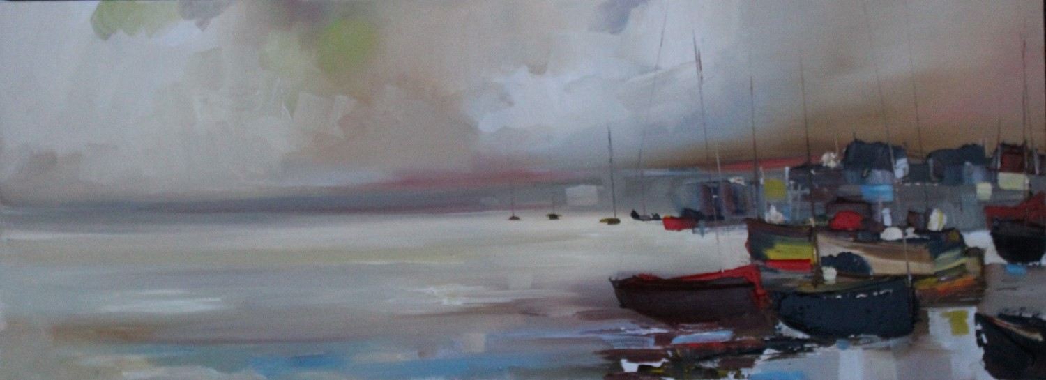 'Boat Sheds and Boats' by artist Rosanne Barr