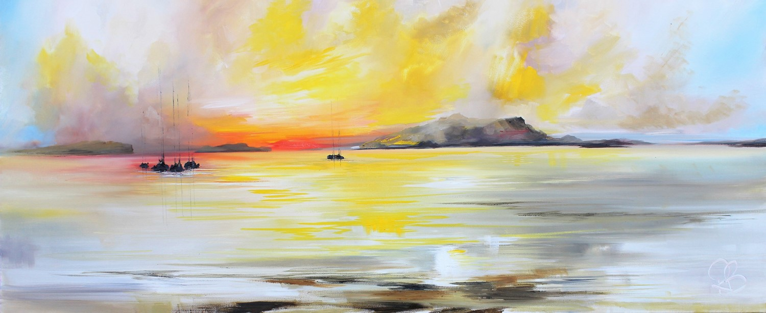 'Looking towards the Isles as the sunsets' by artist Rosanne Barr