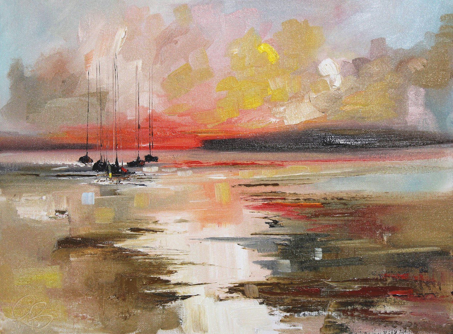 'Homeward as the Sunsets' by artist Rosanne Barr
