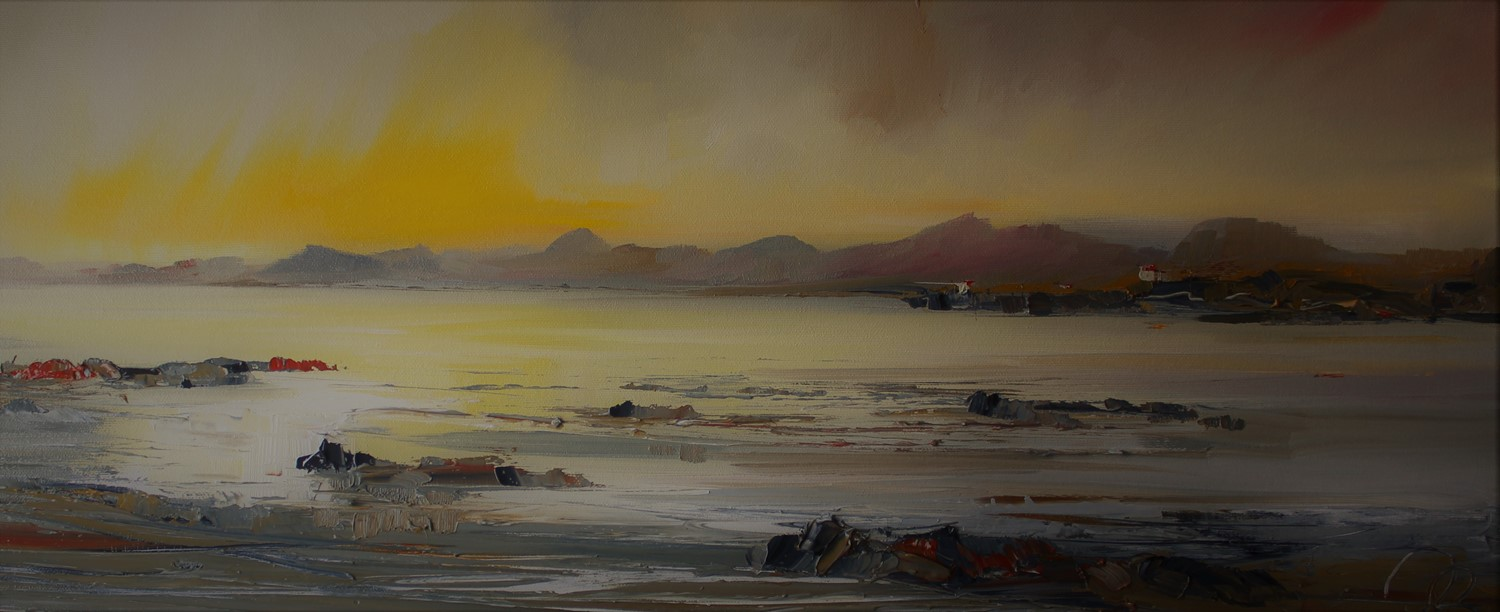 'A Bothy Across the Water ' by artist Rosanne Barr