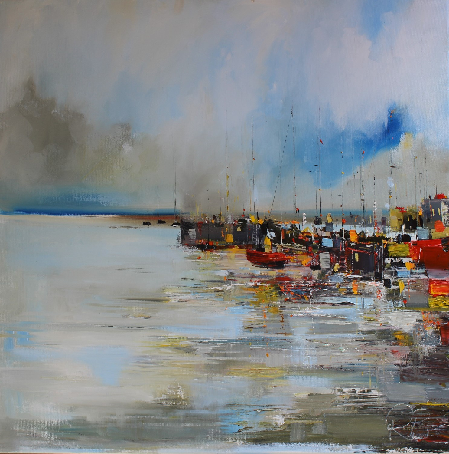 'A Clutter of Colour at the Harbour' by artist Rosanne Barr