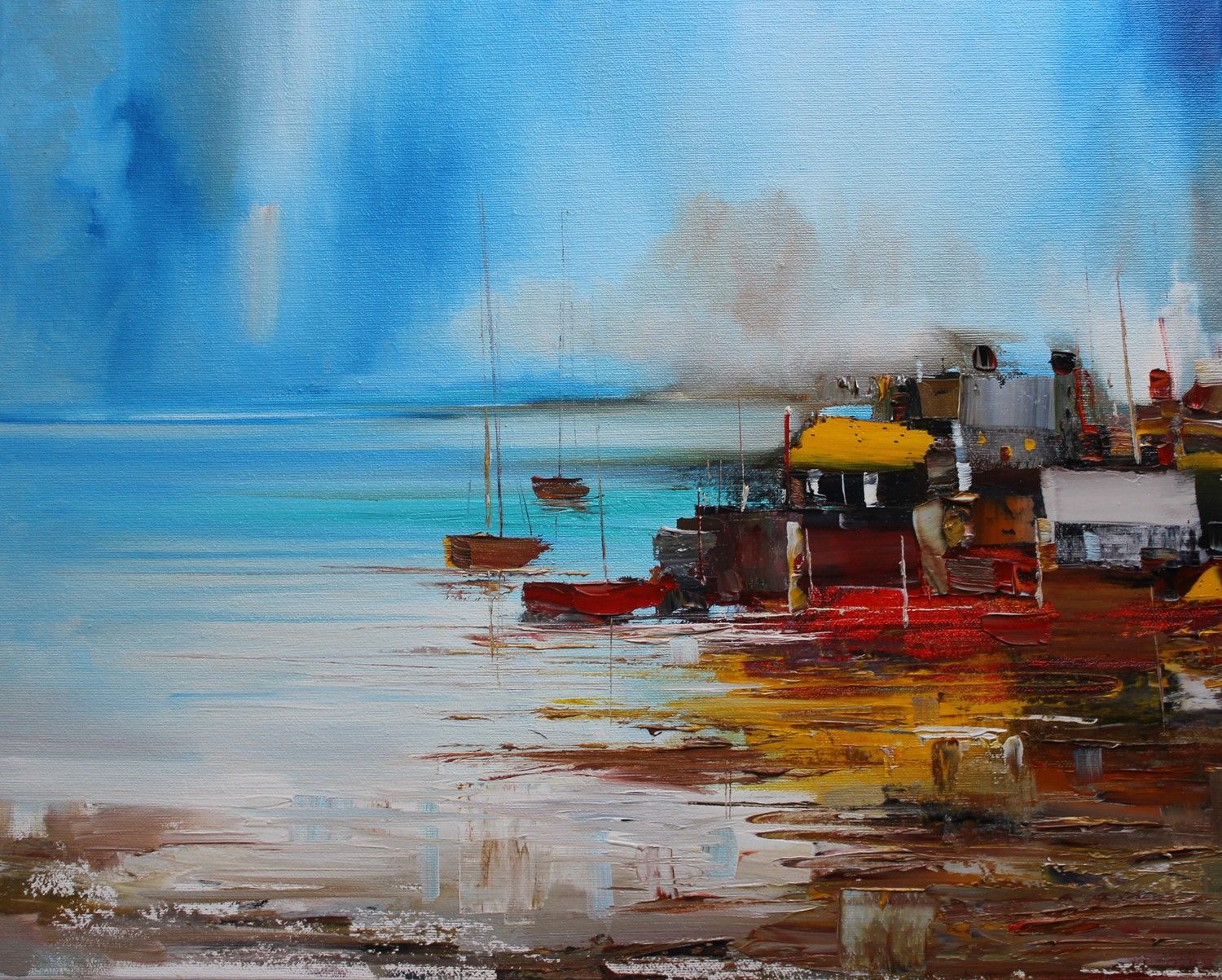 'Harbour Houses' by artist Rosanne Barr