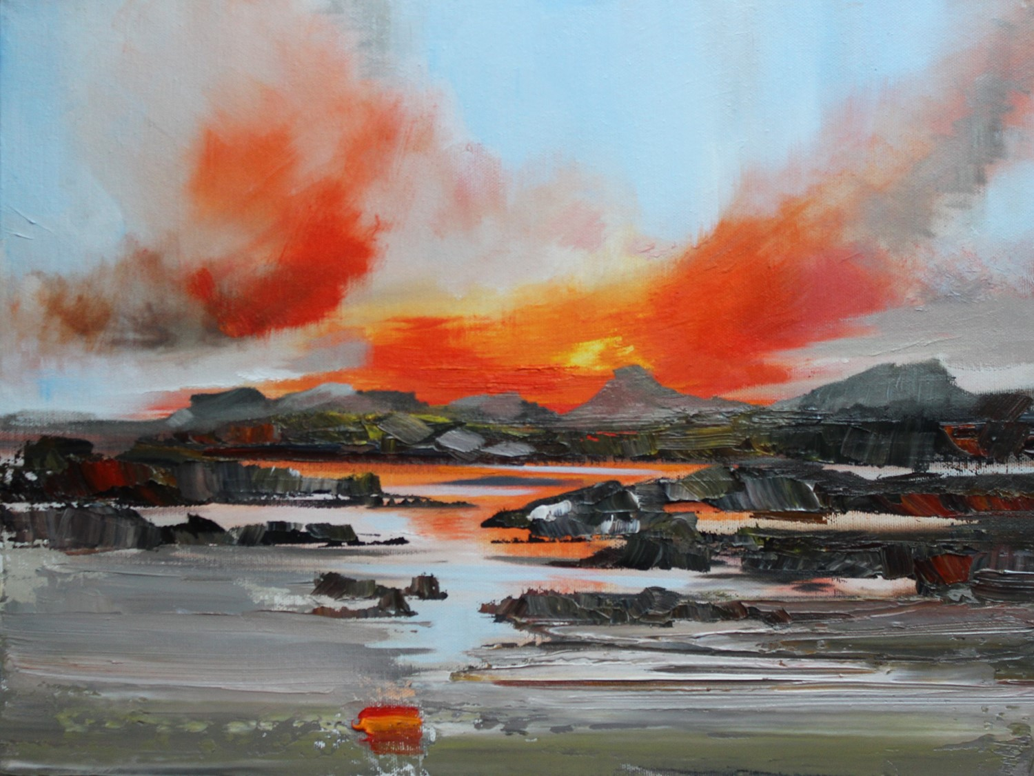 'Sunset Clouds over the Isles' by artist Rosanne Barr