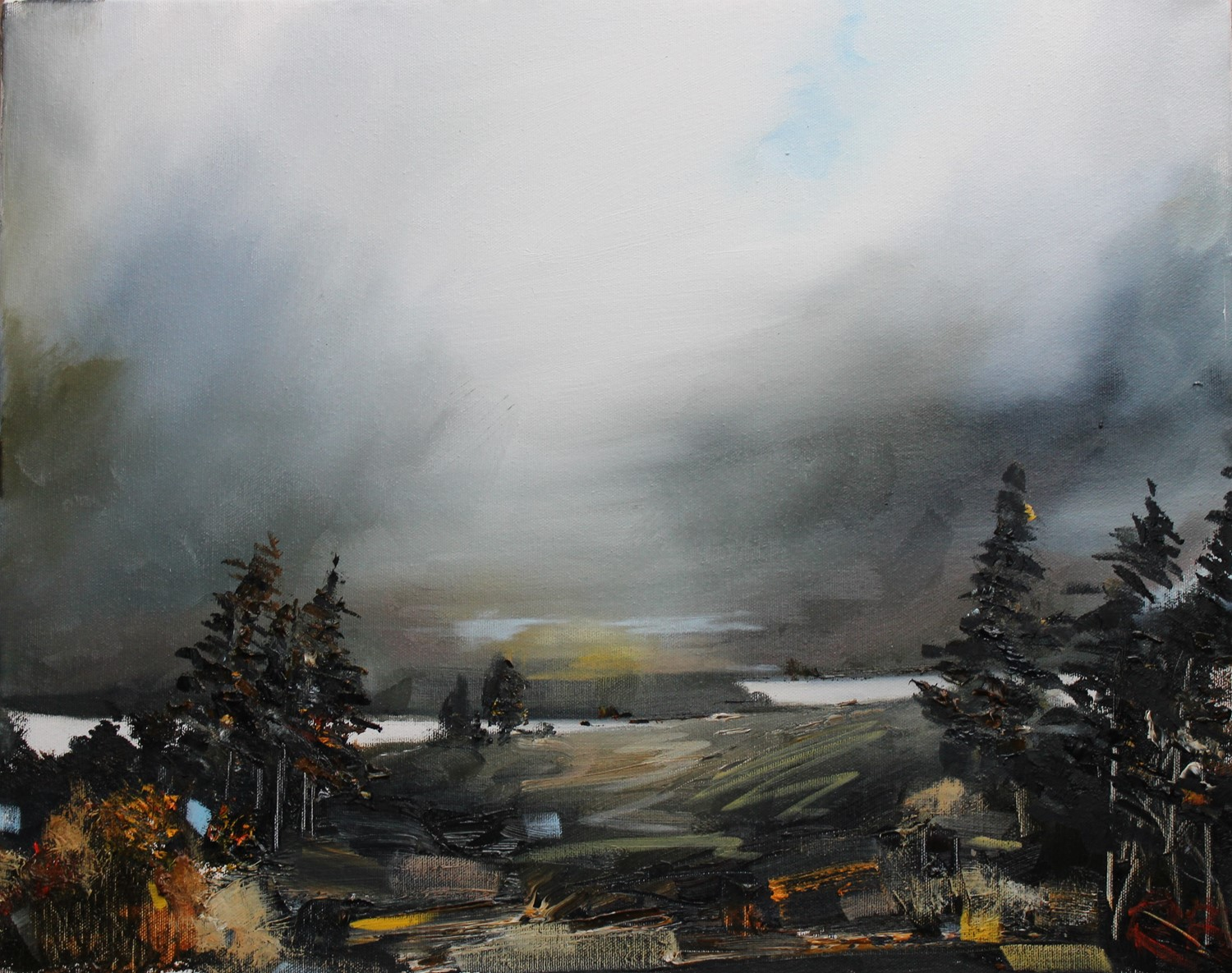 'Highlands amid the Mist ' by artist Rosanne Barr