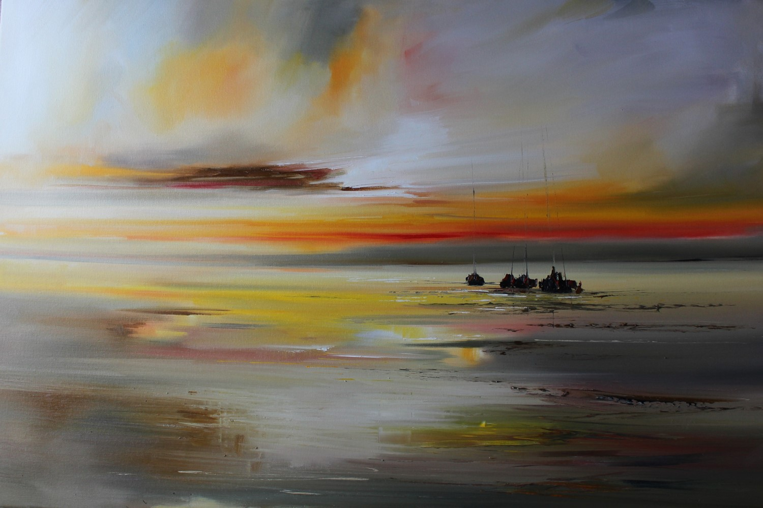 'Yachts at Dusk' by artist Rosanne Barr